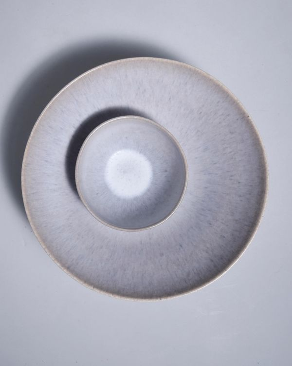 PORTO - Servingbowl flat small grey 2