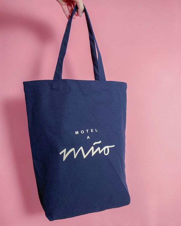 Beach Bag navy rose 2