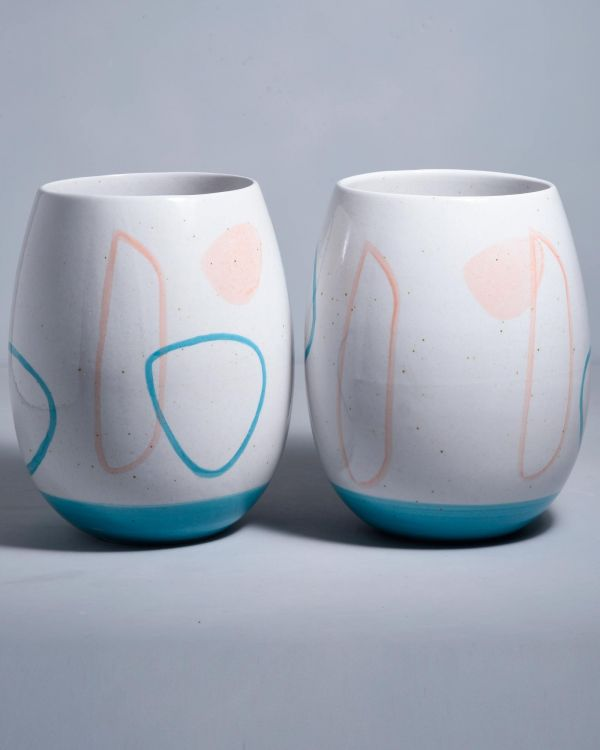 VASO - arts white blue rose 2