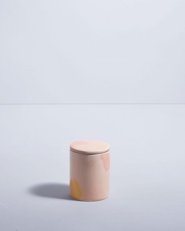VELA - Candle pink yellow 2