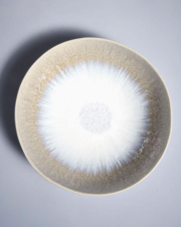 Alachofra Servierschale flach ivory 2