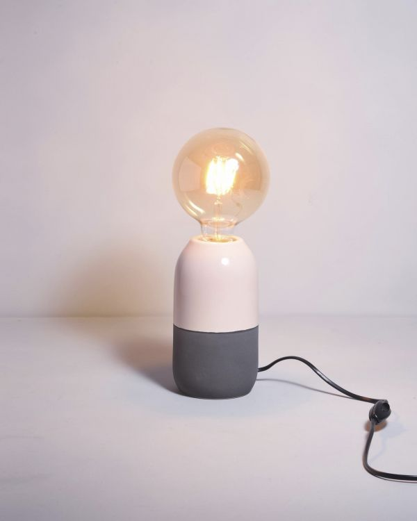FAROL - Lamp grey/rose 2