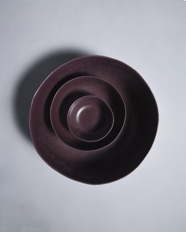 MACIO - Servingbowl burgundy 2
