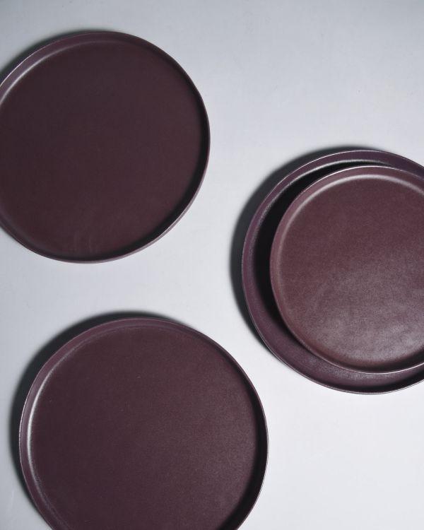 MACIO - Plate large burgundy 2