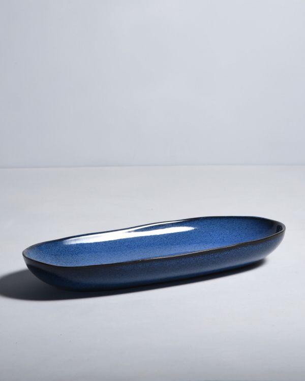 Mae Servierplatte L dunkelblau 2