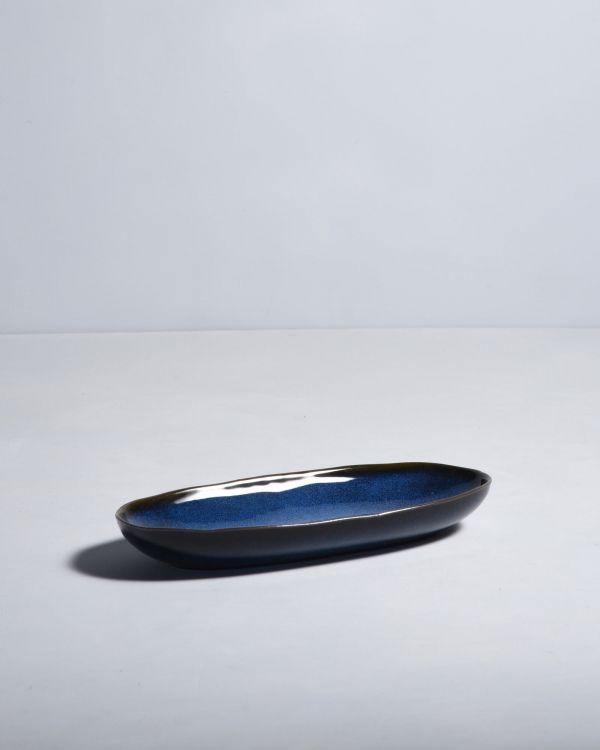 Mae Servierplatte M dunkelblau 2