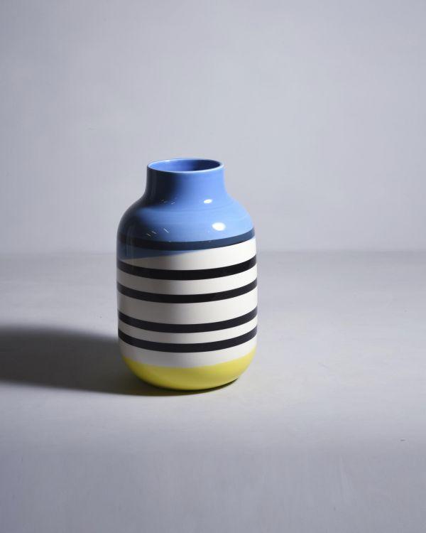 NUNO - black / white striped with blue 2