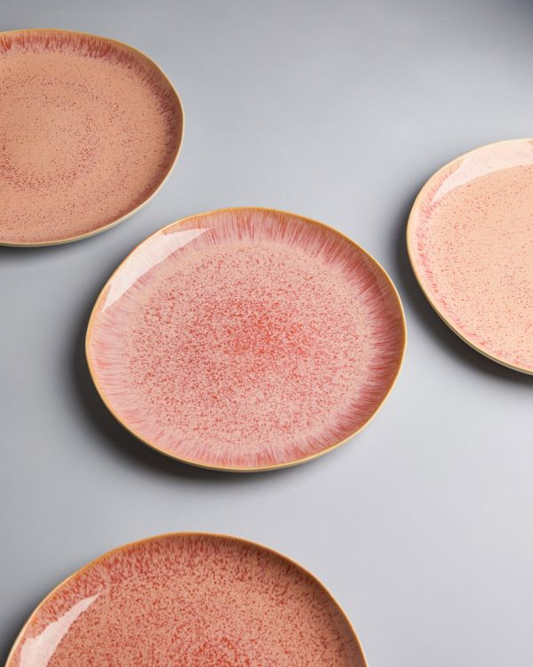 AREIA -Plate large pink 2