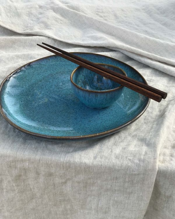 AREIA - Plate large teal 2