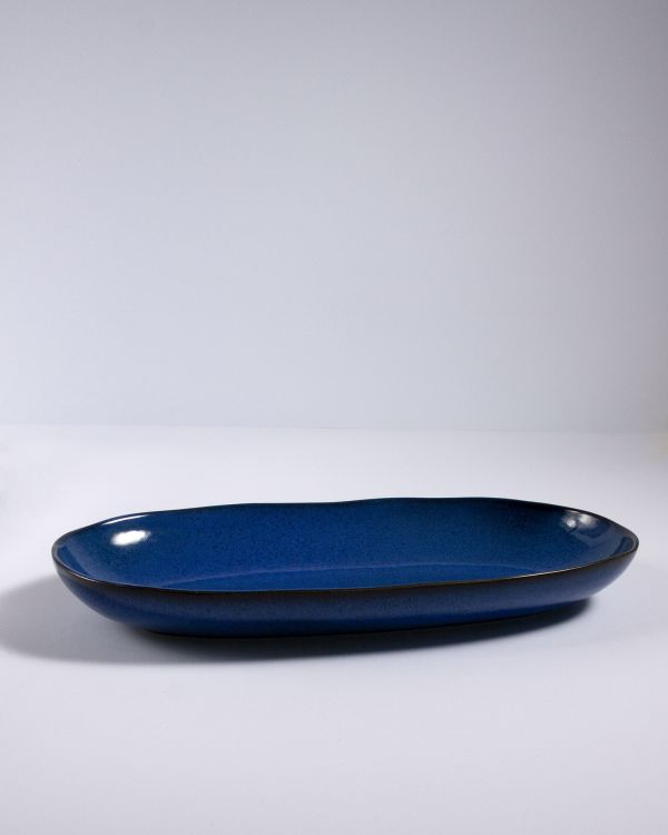 Mae - Servierplatte L dunkelblau 2