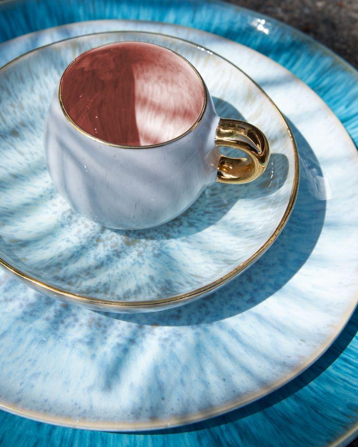Areia Espressotasse pink mit Gold 2