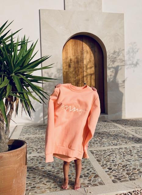 Girls Sweatshirt Peach 2
