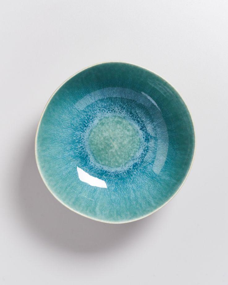 Alcachofra Servierschale grünblau 2