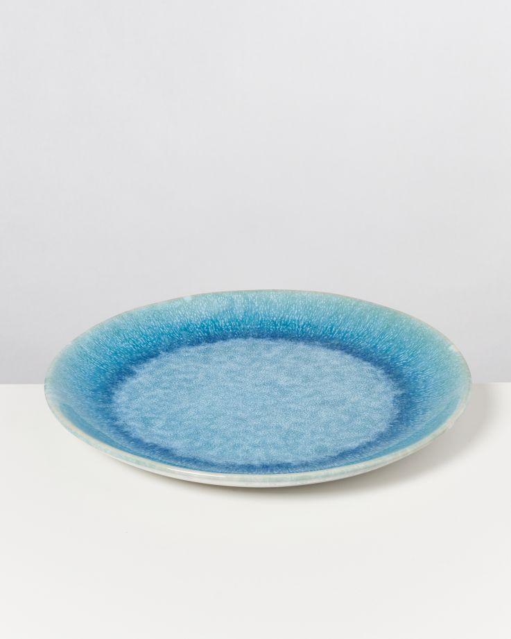 Alcachofra Teller groß grünblau 2