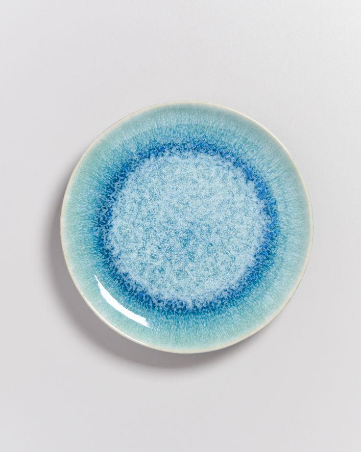 Alcachofra Teller klein grünblau 2