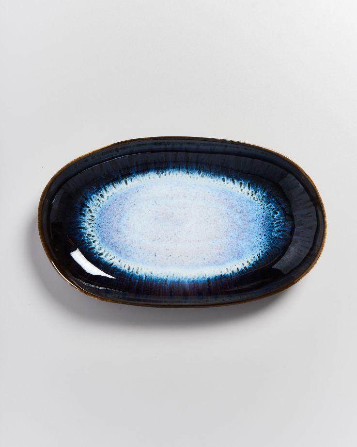 Alcachofra Servierplatte L schwarz 2