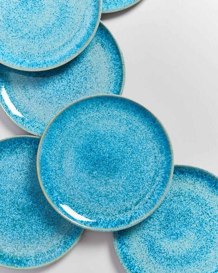 Areia Teller groß aqua 2