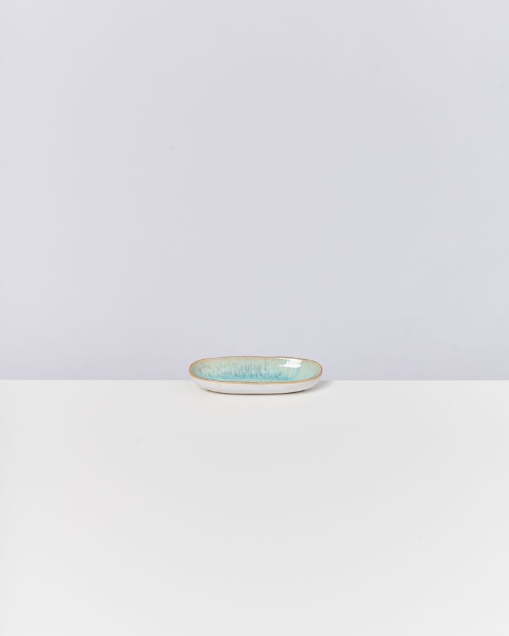 Areia Servierplatte S mit Goldrand mint 2