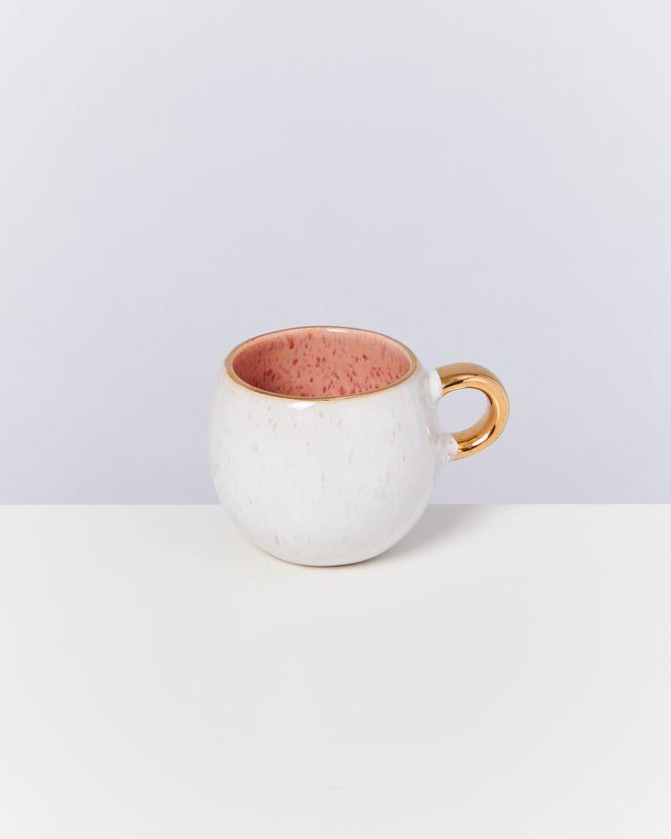 Areia 6er Set Espressotasse pink mit Gold 2