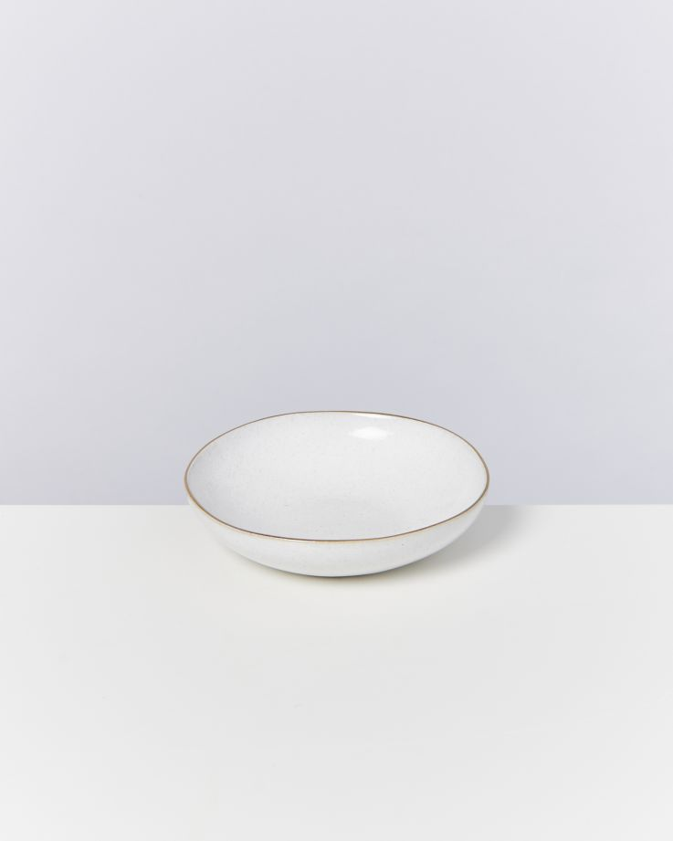 Areia Miniteller mit Goldrand weiß 2