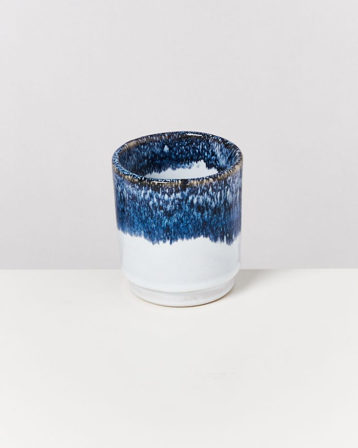Cordoama 6er Set Becher blau gesprenkelt 2