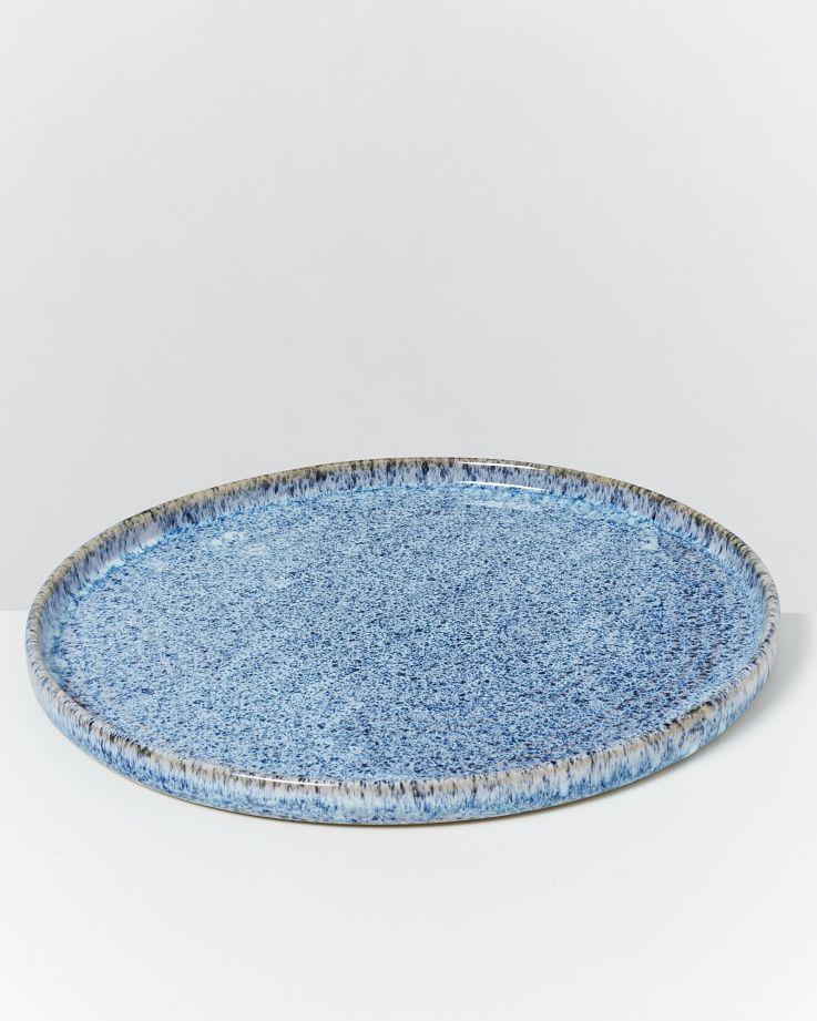 Cordoama Teller groß blau gesprenkelt 2