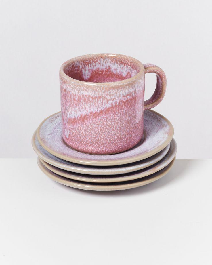 Cordoama 4er Set Untertasse rosé 2