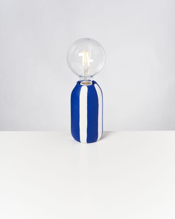 Farol Lampe blau gestreift 2