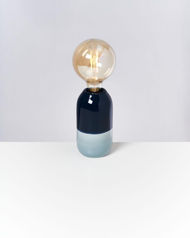 Farol Lampe navy hellblau 2