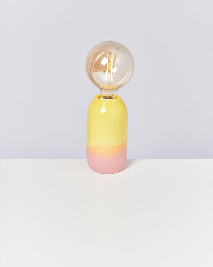Farol Lampe gelb rose 2