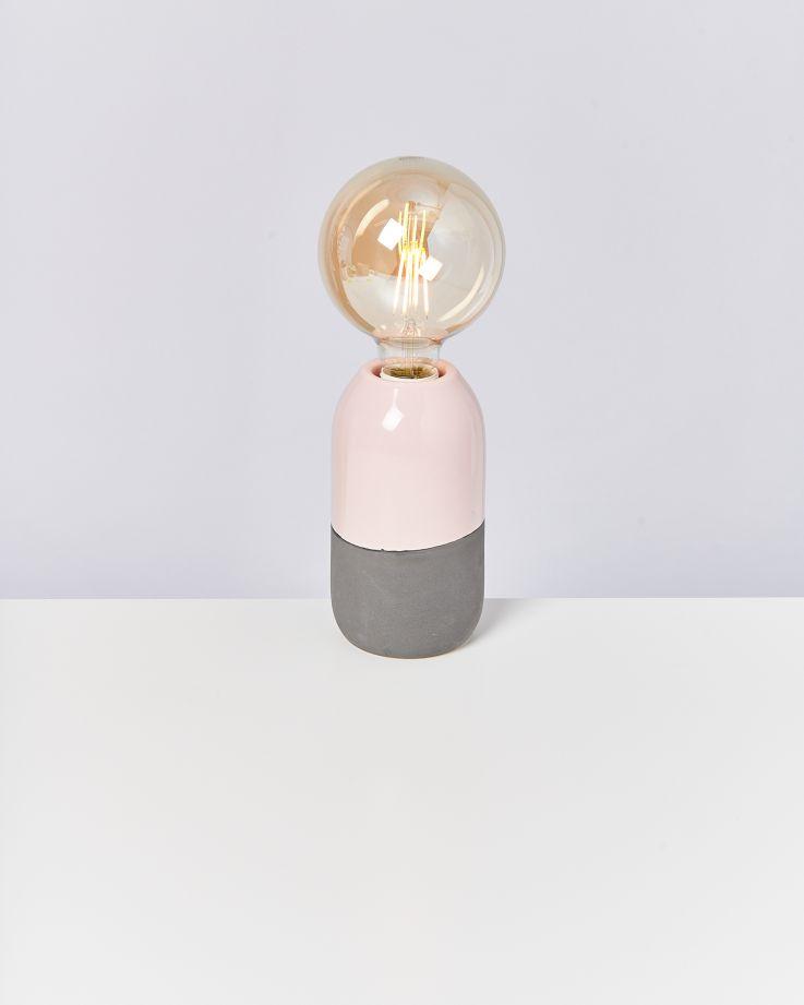Farol Lampe rosé grau 2