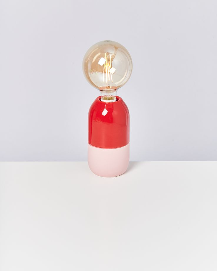 Farol Lampe rot rosa 2