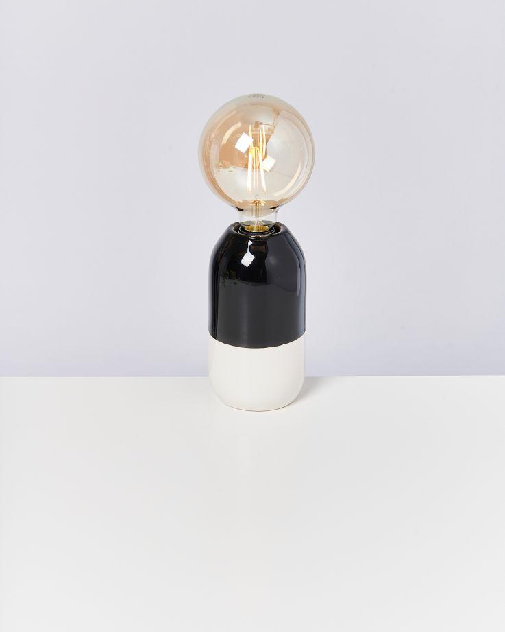 Farol Lampe schwarz weiß 2