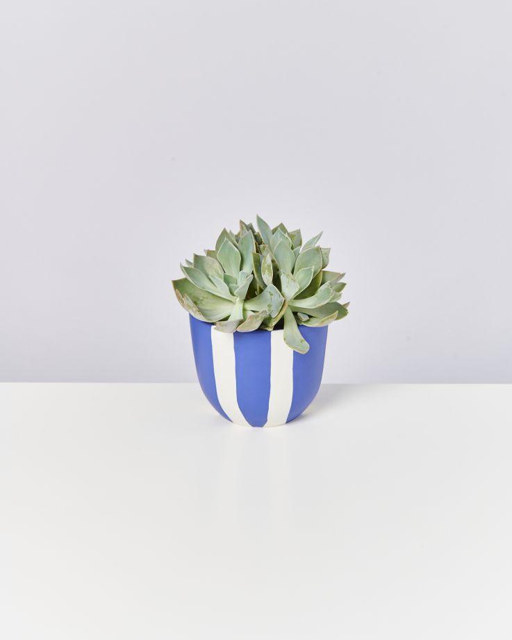 Flores Planter blue striped 2