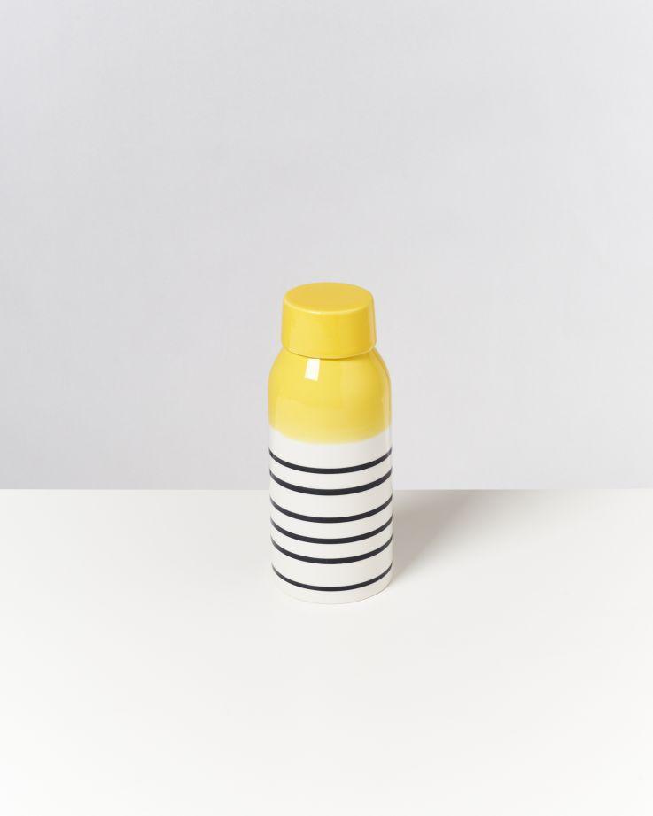 Garrafa gelb schwarz gestreift 2