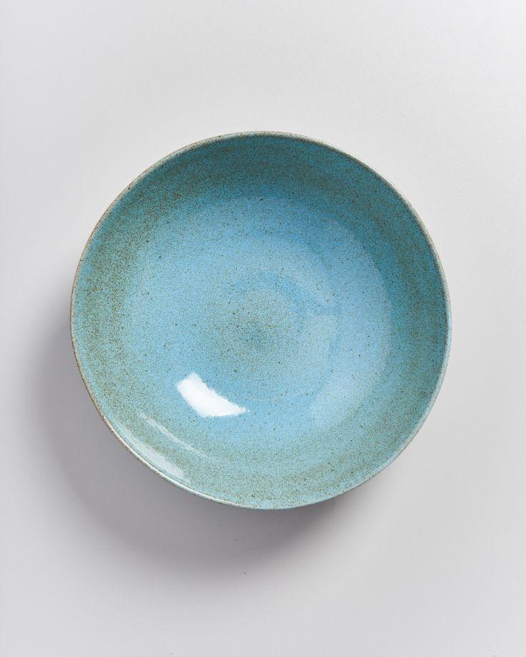 MAE - Servingbowl big flat turquoise 2