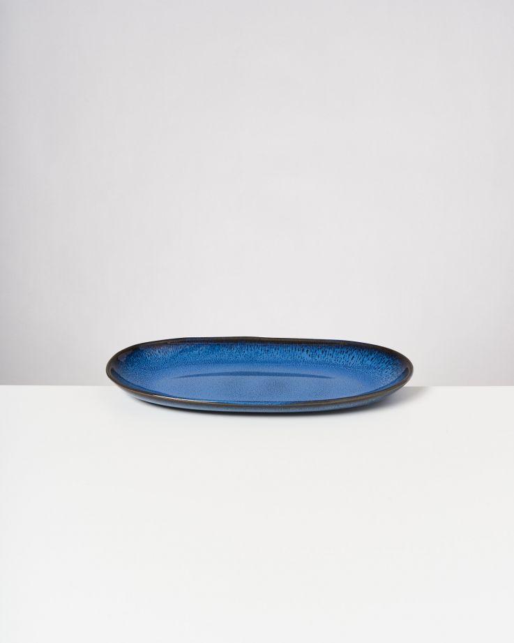 Melides Servierplatte L blue 2