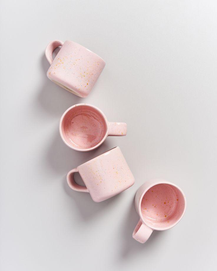 Nódoa Tasse rosa gesprenkelt 2