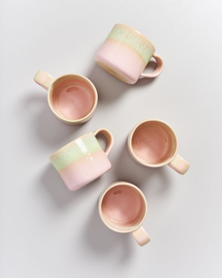 Pirolito Tasse rosa grün 2