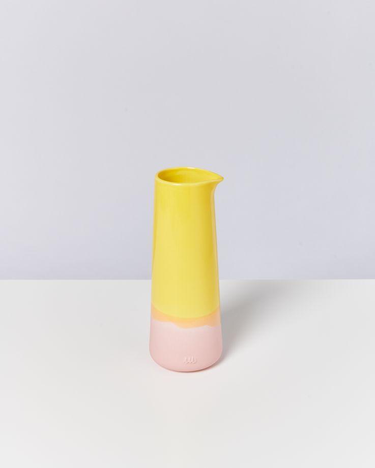 Pinguim Karaffe gelb rosa 2
