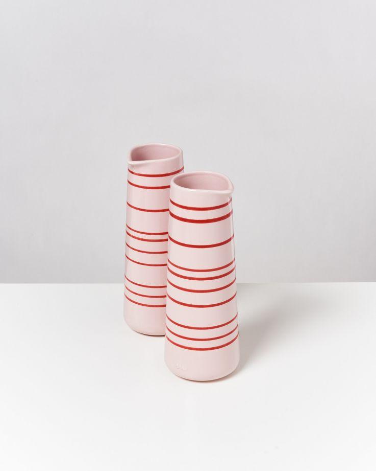 Pinguim Karaffe rosé-rot gestreift 2