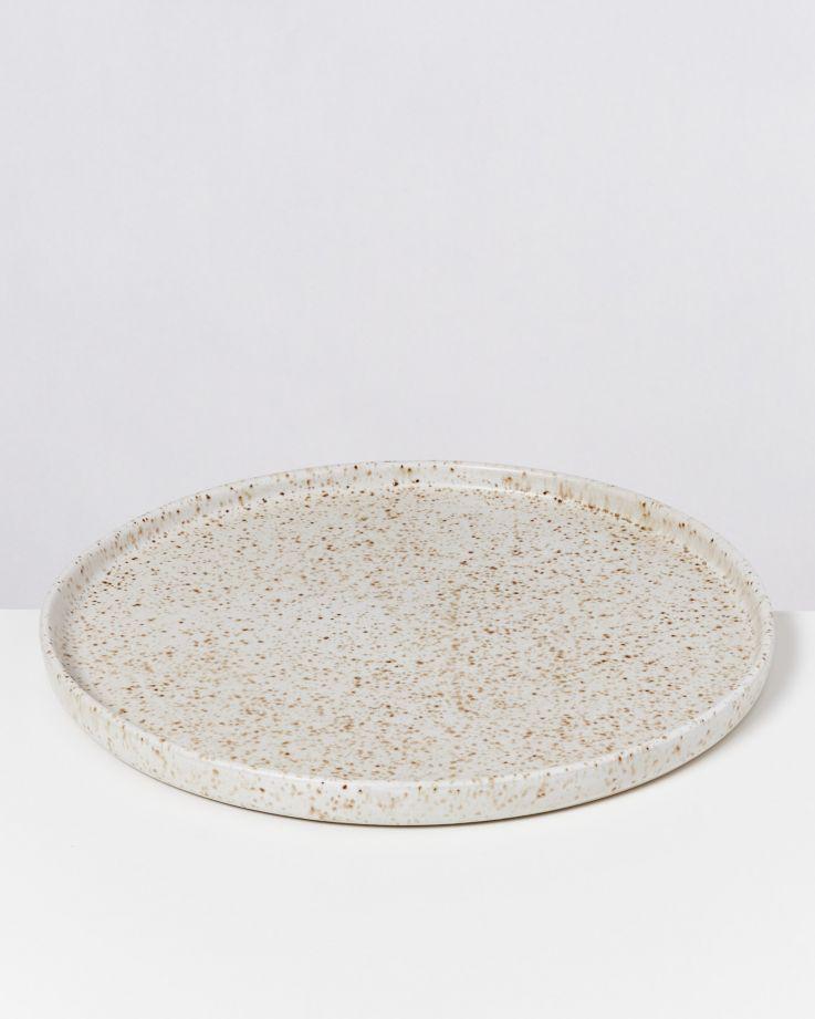 Tavira Teller groß sand dots 2