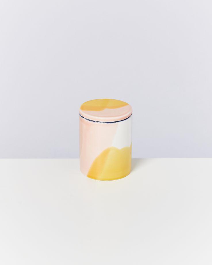 Vela Kerze weiß rosa gelb 2