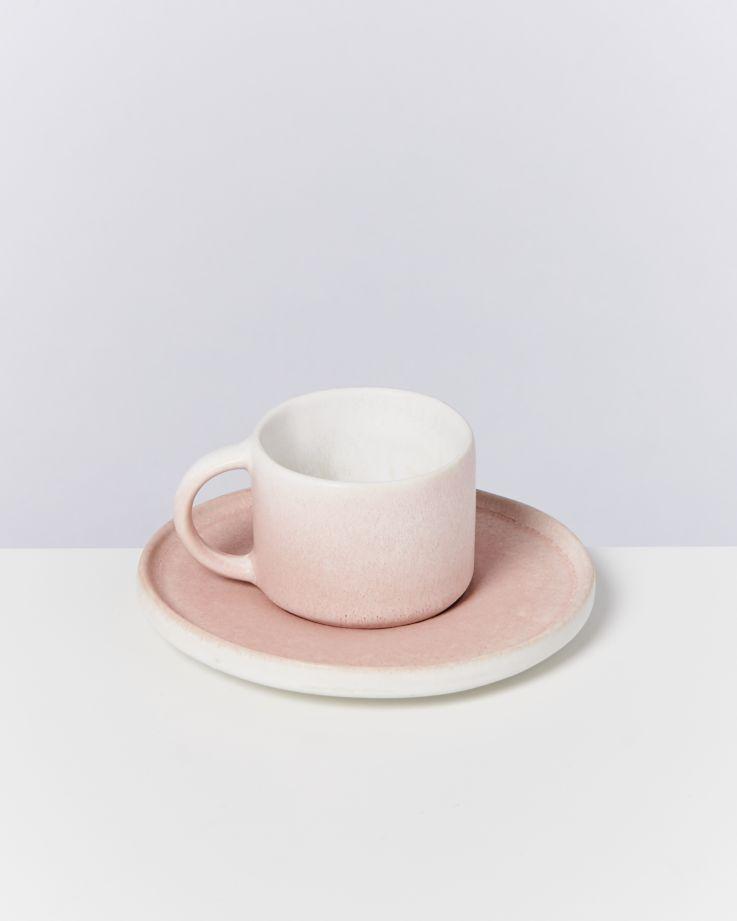 Zavial rose - Set of 4 Espressomugs with Saucer 2