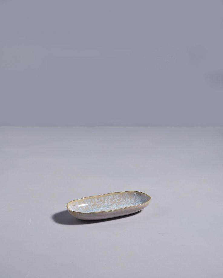 Areia Servierplatte S mit Goldrand azur 2