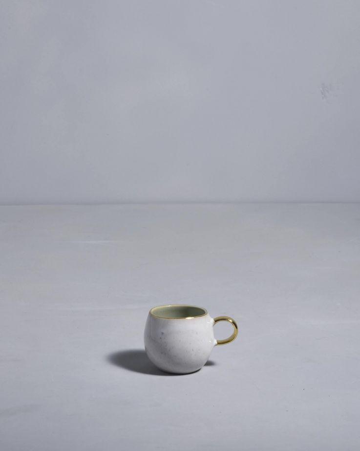 Areia Espressotasse mint mit Gold 2