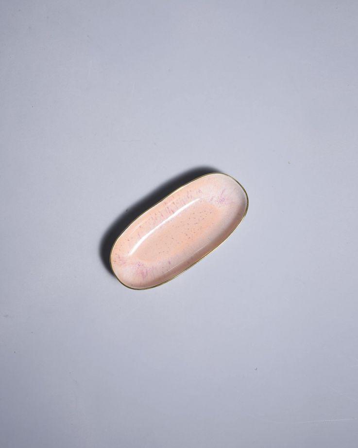 Areia Servierplatte S mit Goldrand pink 2