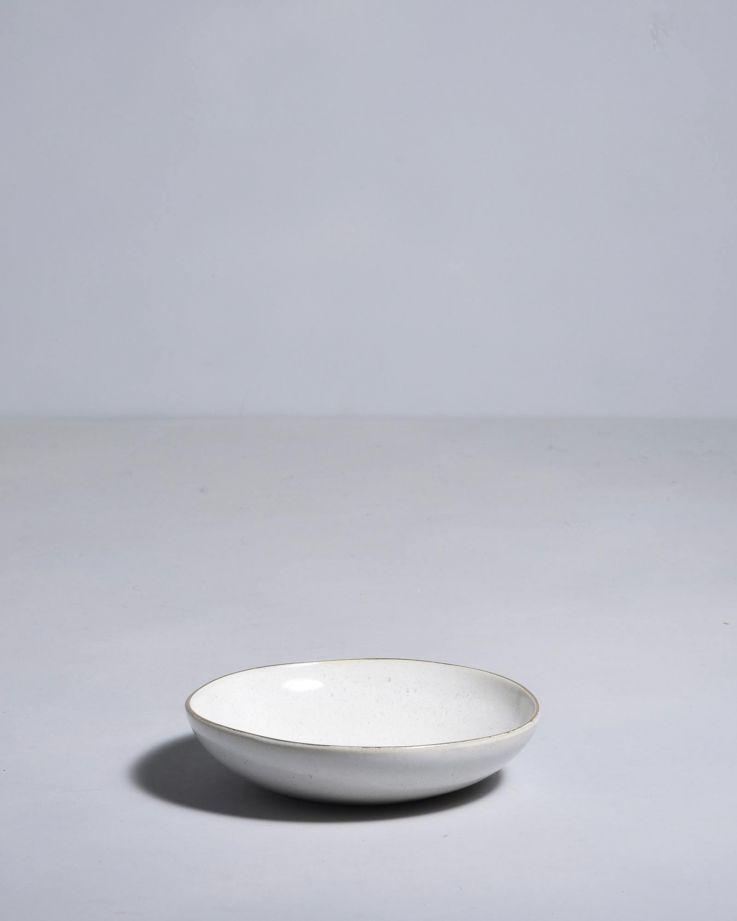 Areia Mini Teller mit Goldrand weiss 2