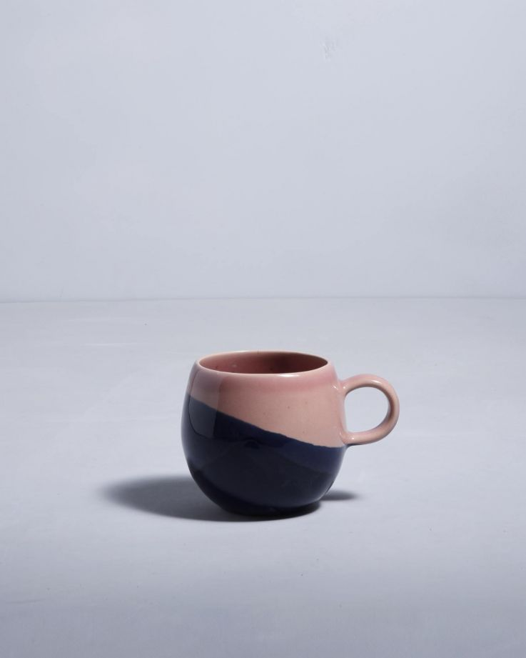 Bica Tasse gross navy pink 2