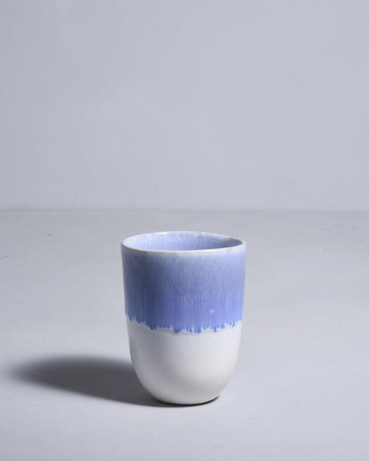 Copa Alto Becher groß blau weiß 2